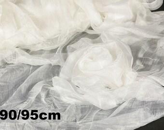 Margilan gauze, silk 100% for felting, 90cm/1m