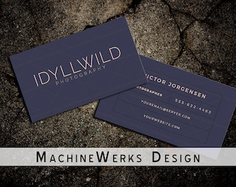 Professional Minimalistic Business Card Design • Calling Card • Photography • Small Business • Classic Stationery • Customizable