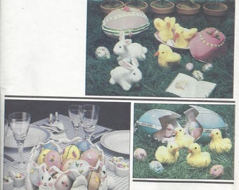 Vogue 2654 Easter Crafts - Centerpiece with bunnies and eggs; Eggs that hold chicks and ducks COST INCLUDES SHIPPING