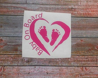 Baby on Board, Baby on Board Sign, Baby Car Decal, Car Decal for Women, Car Window Decal, Baby on Board Sticker, Baby Gift, Baby Gear