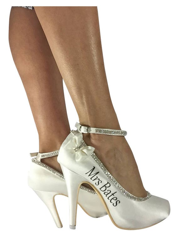 Bridal colors choose Navy Pink Hot Ivory Ankle Heel Rhinestone your amp; with High bling Strap Personalized on gAgrxqaw
