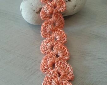 Friendship Bracelet shades of orange crocheted