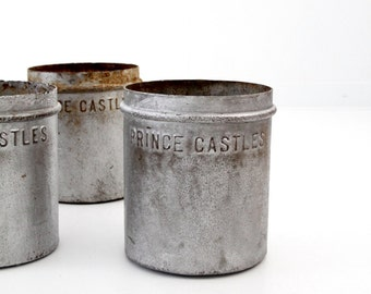 antique metal ice cream bucket, Prince Castles Ice Cream, nostalgia ice cream can