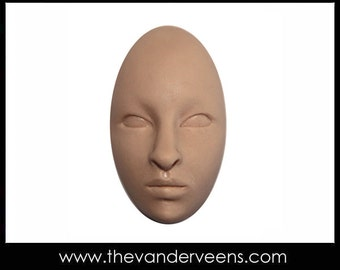 Mold No.65 (Elongated Oval Face- closed eyes) by Veronica Jeong