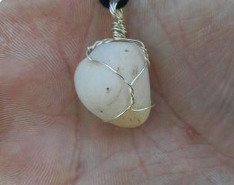 Wrapped hand collected river calcite