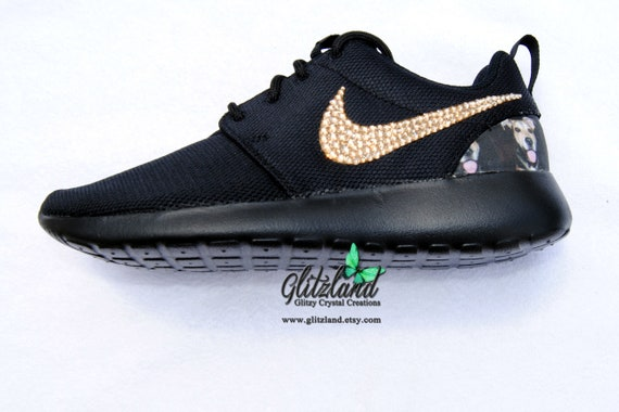 w Heel Black with Personal SWAROVSKI® Crystals Photo blinged Roshe Swarovski Nike Run C0cIU