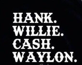 Old Country Legends Hank Willie Waylon Cash