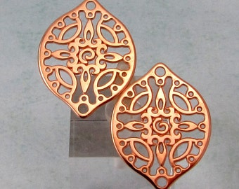 Filigree Drop, Rose Gold, 2 Pieces, RG27