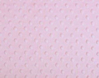 Minky fabric, velvet fabric, fabric pink polka dots embossed coupon