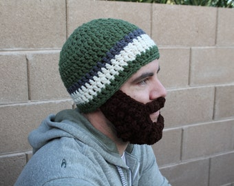 Adult ULTIMATE Bearded Beanie Sage Charcoal Mix