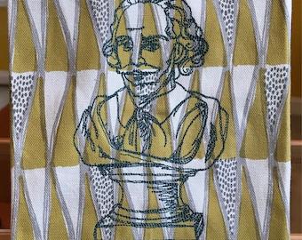 The bard-shakespeare on a tea towel