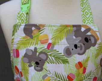 Child's Apron--Koala Bears Reversible Apron