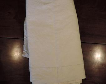 Double metis linen sheet, light weight, unused, hand drawn ladder work