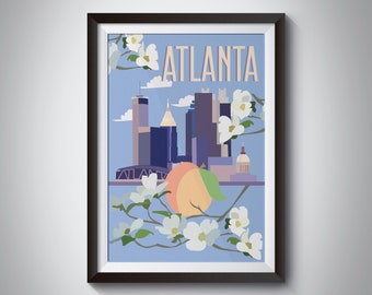 Atlanta | Travel Poster | Instant Download