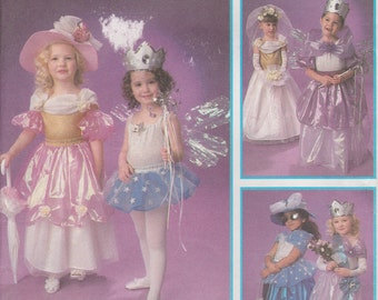 Girls Princess Dress Costume Pattern Formal Party Long Bridal Design Your Own Girls Size 3 - 8 Uncut Simplicity 8769