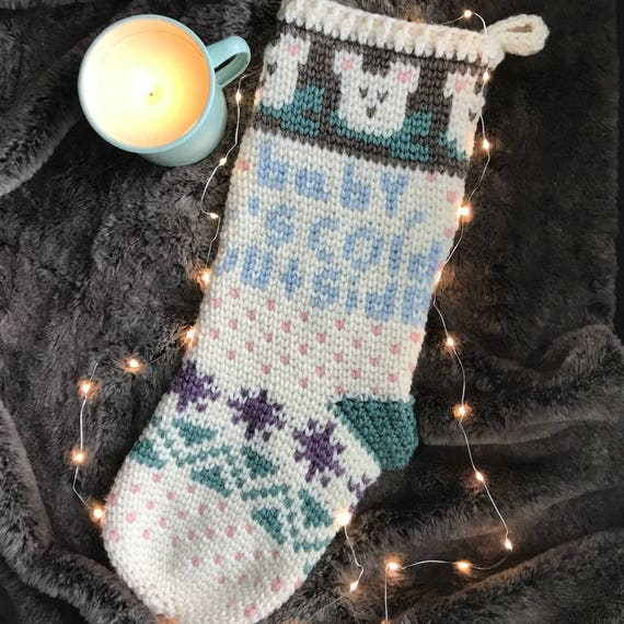 Baby It's Cold Outside Stocking PDF DIGITAL DOWNLOAD