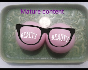 Boob shaped soaps medium size, novelty soap,  bachelor party, bachelorette party, white elephant gift, gag gift, stag do