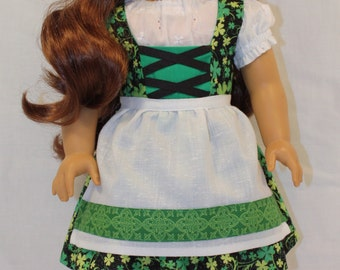 18 inch Doll Clothes - St.Patrick's Day Dress