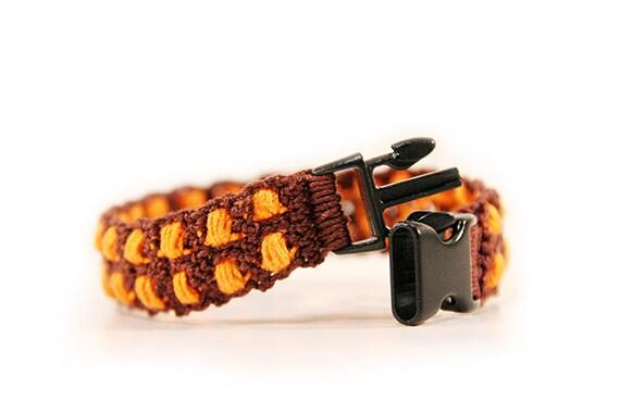 m nner armband orange braun herren armband schmuck f r. Black Bedroom Furniture Sets. Home Design Ideas