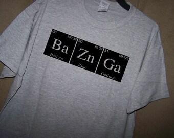 Big Bang Theory BAZINGA Periodic Table T Shirt
