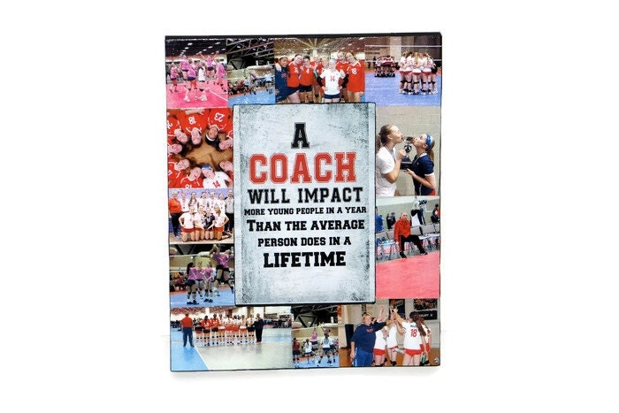 Coach Gift Picture Frame Collage Cheerleading Print Photo Frame ...