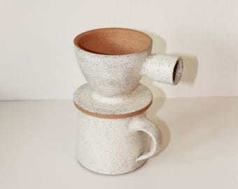 Coffee Pour Over, Ceramic Pour Over, Coffee Dripper, Coffee Maker, Coffee Lover's Gift, coffee pour over, white pour over