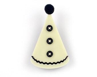 Pierrot Hat Brooch