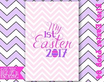 Babys First Easter - Easter Baby - Easter Chalkboard - Easter Photo Prop - Easter Chalkboard - Birthday Photo Prop DIGITAL Girl Chalkboard