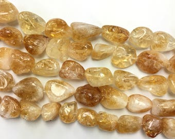 Natural Citrine Nugget Strands