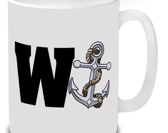 W Anchor Wanker Novelty Mugs Funny Mugs Gifts Secret Santa.
