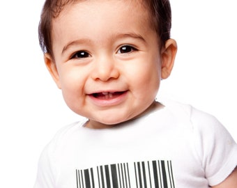 Baby onesie with Barcode