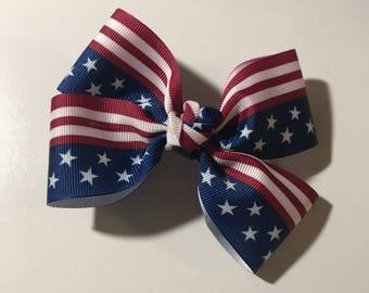 Hair Bow: American Flag / USA
