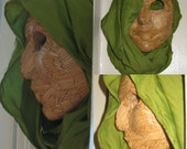 FREE SHIPPING Self~pro~trade Sculpture Face made out of Bamboo Sticks.Made by Farrah Lenis Gift Box Included