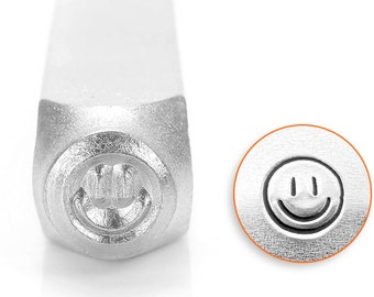 6mm Smiley Face metal design stamp, Impressart Happy Face, flourish stamps, jewelry stamps, metal stamps, metal stamping tools