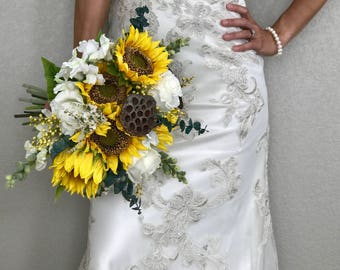 Sunflower Country - Bridal Bouquet - Faux Flowers
