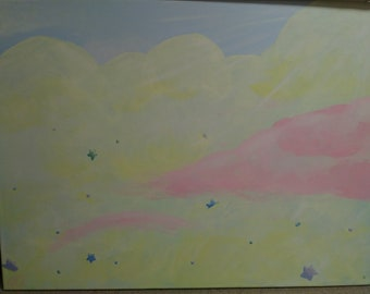 """Acrylic Painting, """"Dreamscape"""" - 24x18in Canvas (1)"""