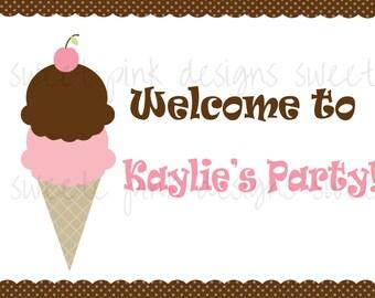 PRINTABLE WELCOME SIGN- Ice Cream Shoppe Collection