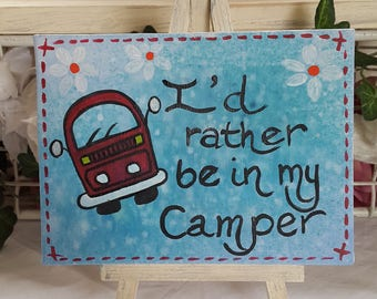 VW Inspired Little Dub Easels - Quotes for Campervan lovers
