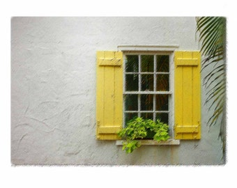 Yellow Shutters in South Florida - Computer-Enhanced Photographic Fine Art - Limited Edition Photography Art Print - Home Sweet Home