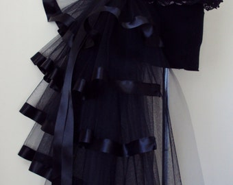 Black Burlesque Steampunk Bustle Belt size US 2 4 6 8  10 UK 6 8 10 12 14