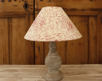 Lampshade romantic pink flowers, light