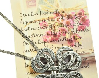 Eternity Love Knot Necklace  N10285 Symbology by Lois Wagner