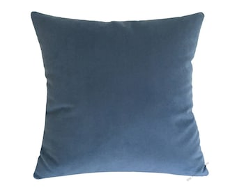 Ocean Blue Velvet Suede Decorative Throw Pillow Cover / Pillow Case / Cushion Cover / 18x18""