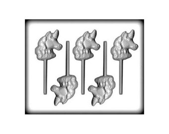 Unicorn Lollipop Mold, Unicorn Hard Candy Mold, Unicorn Birthday Party Favor