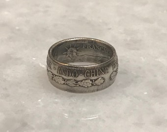 Vietnam silver coin ring