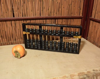 Vintage Chinese Large Wooden Abacus