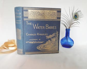 The Water Babies by Charles Kingsley / 1984 Facsimile of the 1885 Edition, Chancellor Press, London / 100 Illustrations / In Good Condition