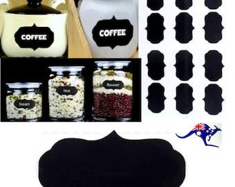 200   Blackboard  Chalk   Sticker  Labels  &  1  Free  Pen..pantry jars
