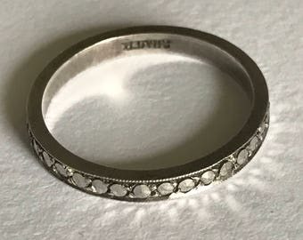 A Marcasite Eternity Ring, 1930s