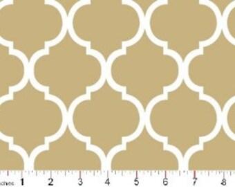 Quatrefoil Fabric ~ Khaki Quatrefoil ~ Fabric By The Yard ~ Moroccan or Geometric Style Fabric